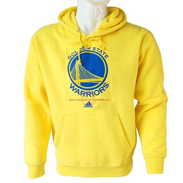 Achat Hoodies NBA Golden State Warriors Jaune City pas cher