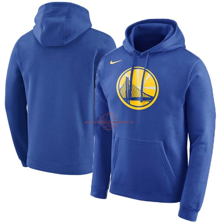 Achat Hoodies NBA Golden State Warriors Nike Bleu pas cher