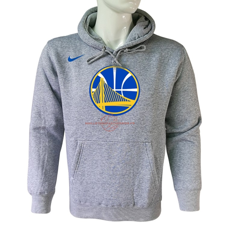 Achat Hoodies NBA Golden State Warriors Nike Gris pas cher