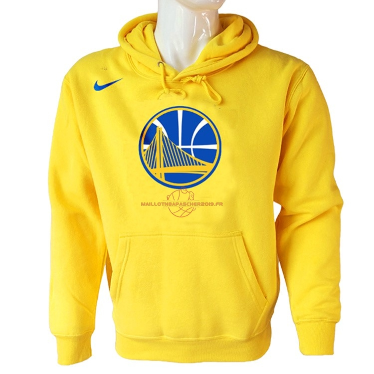 Achat Hoodies NBA Golden State Warriors Nike Jaune pas cher