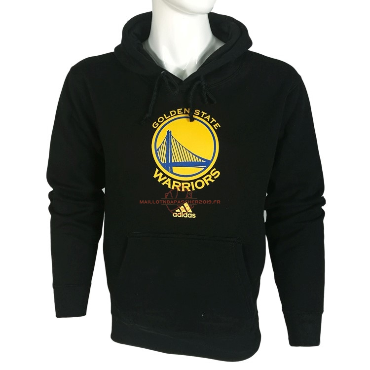 Achat Hoodies NBA Golden State Warriors Noir City pas cher