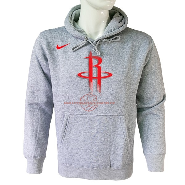 Achat Hoodies NBA Houston Rockets Nike Gris pas cher