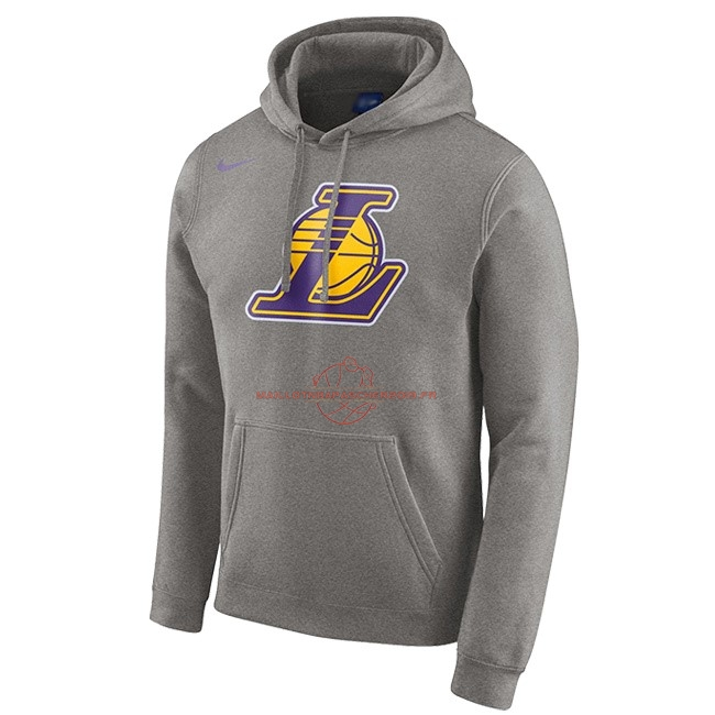 Achat Hoodies NBA Los Angeles Lakers Nike Gris pas cher