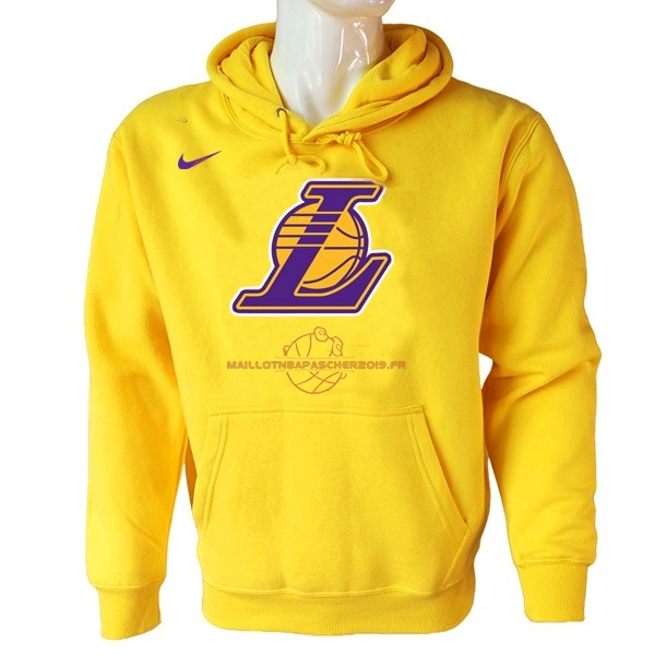 Achat Hoodies NBA Los Angeles Lakers Nike Jaune pas cher