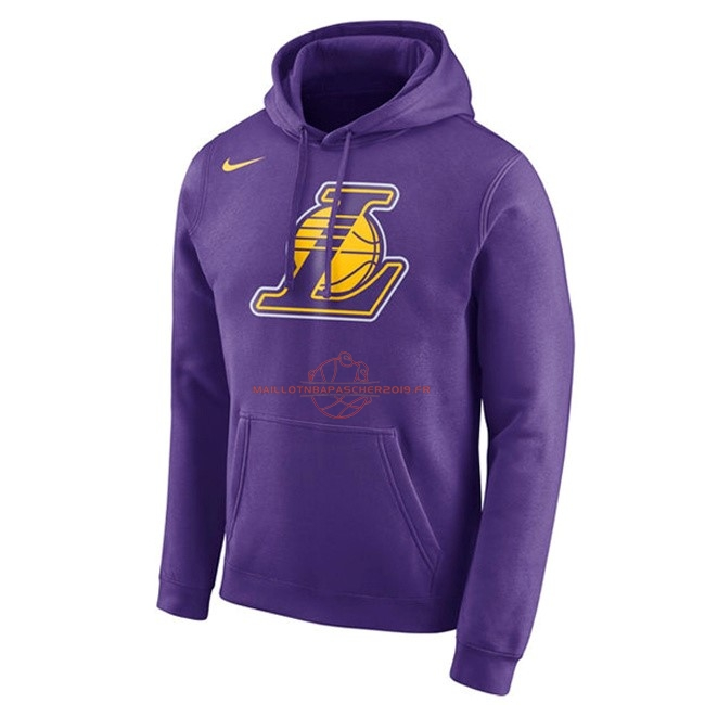 Achat Hoodies NBA Los Angeles Lakers Nike Pupura pas cher