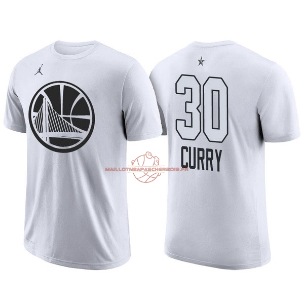 Achat Maillot NBA 2018 All Star Manche Courte NO.30 Stephen Curry Blanc pas cher