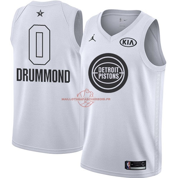 Achat Maillot NBA 2018 All Star NO.0 Andre Drummond Blanc pas cher
