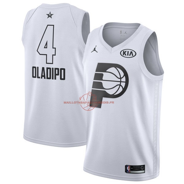 Achat Maillot NBA 2018 All Star NO.4 Victor Oladipo Blanc pas cher
