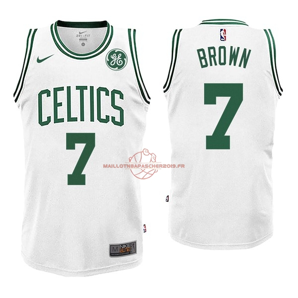Achat Maillot NBA Enfant Boston Celtics NO.7 Jaylen Brown Blnaco 2017-18 pas cher