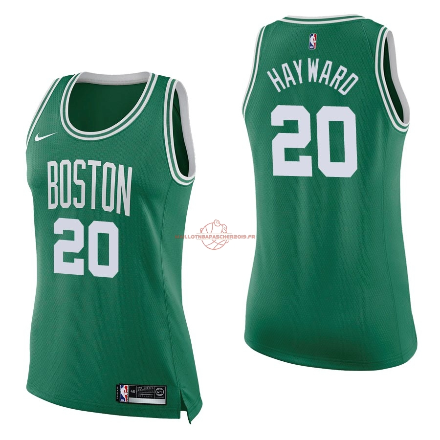 Achat Maillot NBA Femme Boston Celtics NO.20 Gordon Hayward Vert Icon pas cher