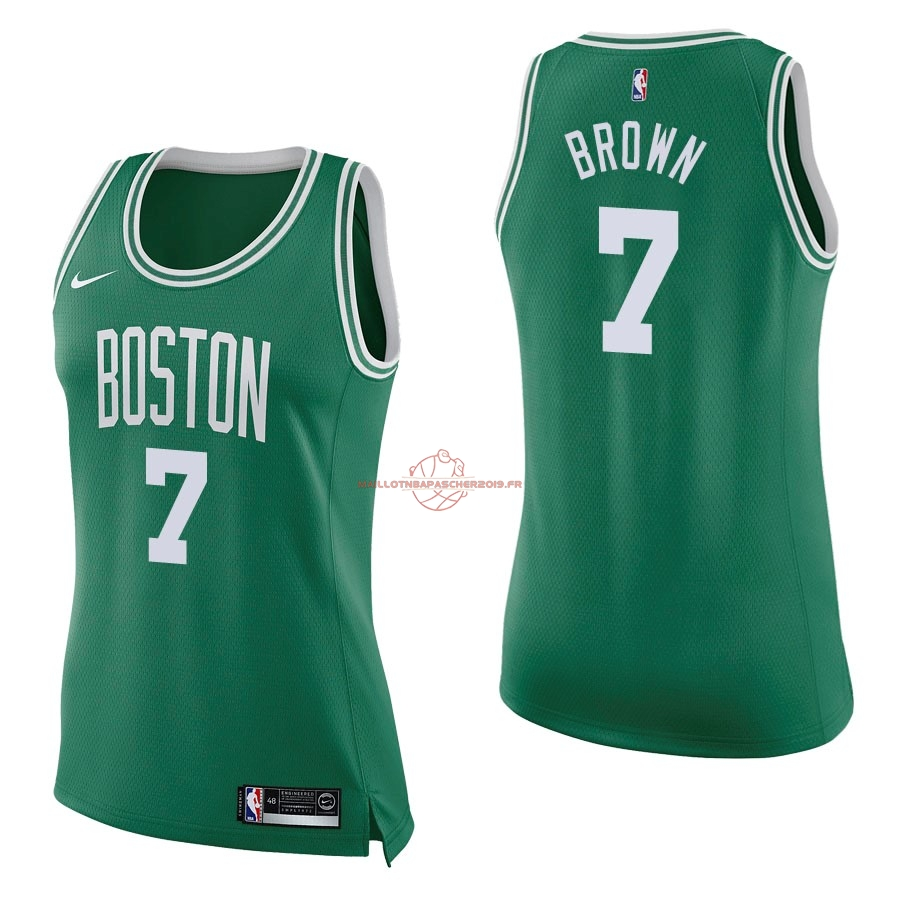 Achat Maillot NBA Femme Boston Celtics NO.7 Jaylen Brown Vert Icon pas cher