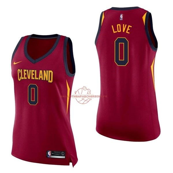 Achat Maillot NBA Femme Cleveland Cavaliers NO.0 Kevin Love Rouge Icon pas cher