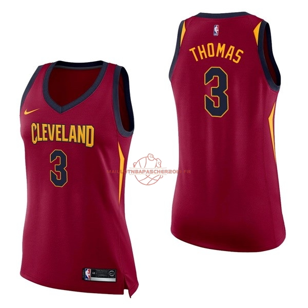 Achat Maillot NBA Femme Cleveland Cavaliers NO.3 Isaiah Thomas Rouge Icon pas cher