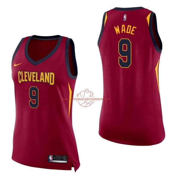 Achat Maillot NBA Femme Cleveland Cavaliers NO.9 Dwyane Wade Rouge Icon pas cher