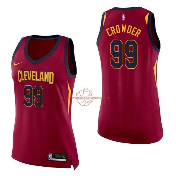 Achat Maillot NBA Femme Cleveland Cavaliers NO.99 Jae Crowder Rouge Icon pas cher