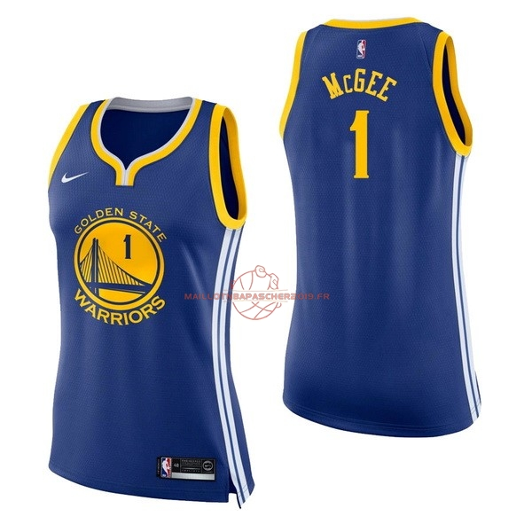 Achat Maillot NBA Femme Golden State Warriors NO.1 JaVale McGee Bleu Icon pas cher