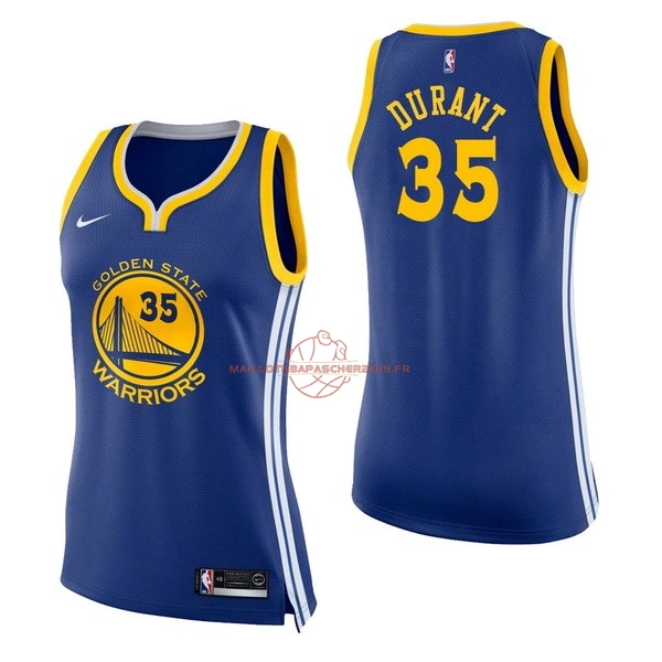 Achat Maillot NBA Femme Golden State Warriors NO.35 Kevin Durant Bleu Icon pas cher