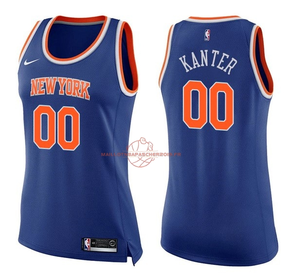Achat Maillot NBA Femme New York Knicks NO.0 Enes Kanter Bleu Icon pas cher