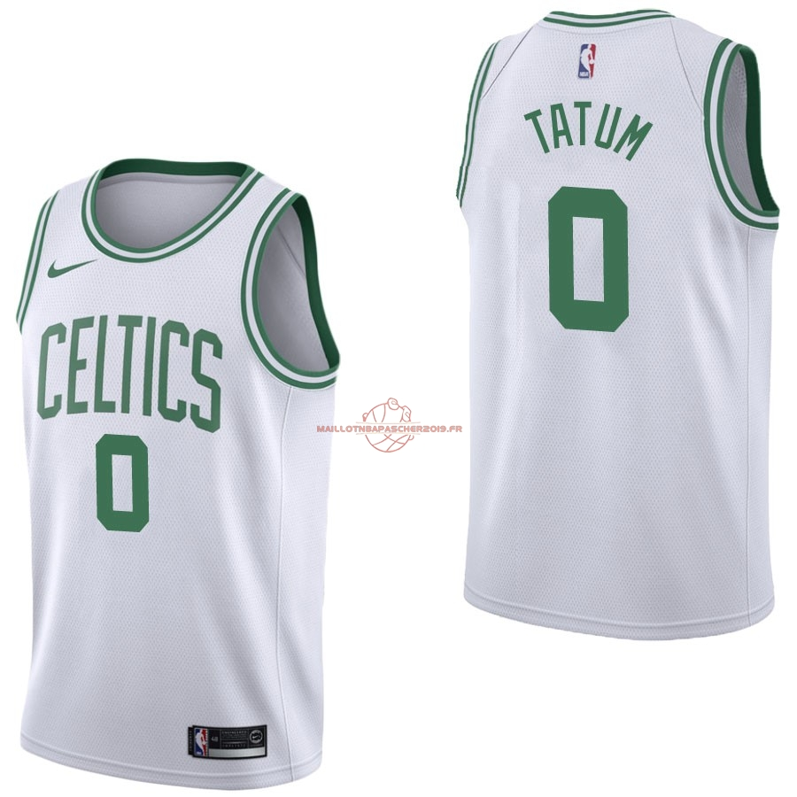 Achat Maillot NBA Nike Boston Celtics NO.0 Jayson Tatum Blanc Association pas cher
