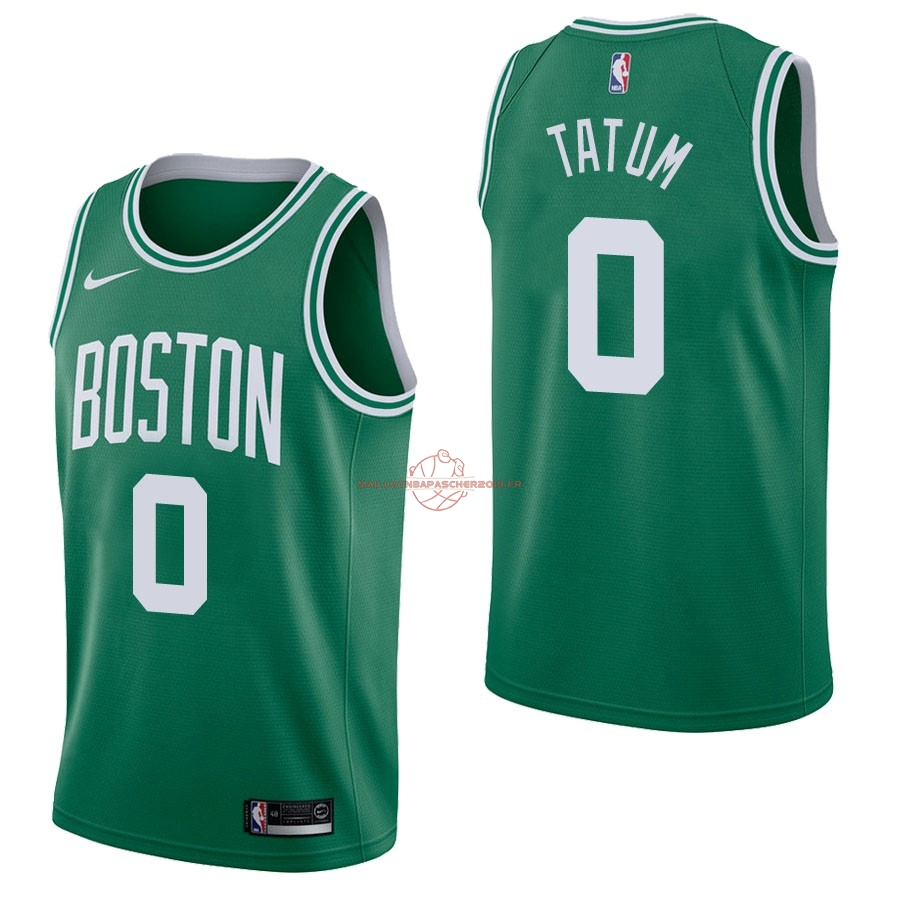 Achat Maillot NBA Nike Boston Celtics NO.0 Jayson Tatum Vert Icon pas cher