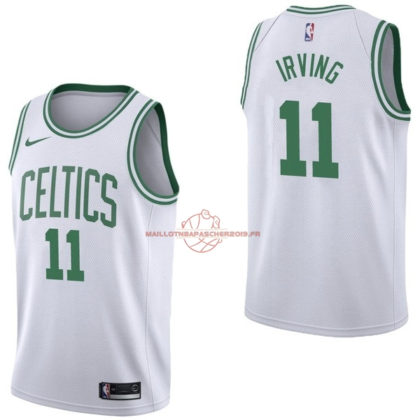 Achat Maillot NBA Nike Boston Celtics NO.11 Kyrie Irving Blanc Association pas cher