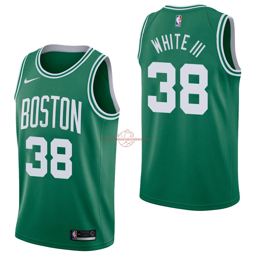 Achat Maillot NBA Nike Boston Celtics NO.38 Andrew White Vert Icon pas cher