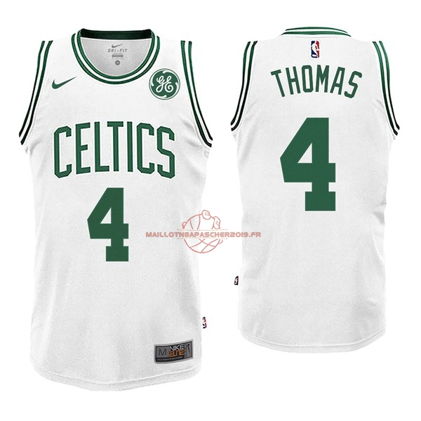 Achat Maillot NBA Nike Boston Celtics NO.4 Isaiah Thomas Blanc pas cher
