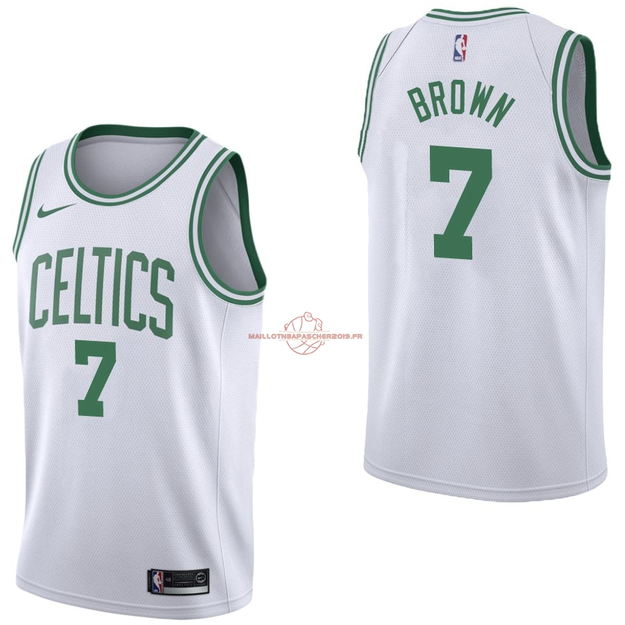 Achat Maillot NBA Nike Boston Celtics NO.7 Jaylen Brown Blanc Association pas cher