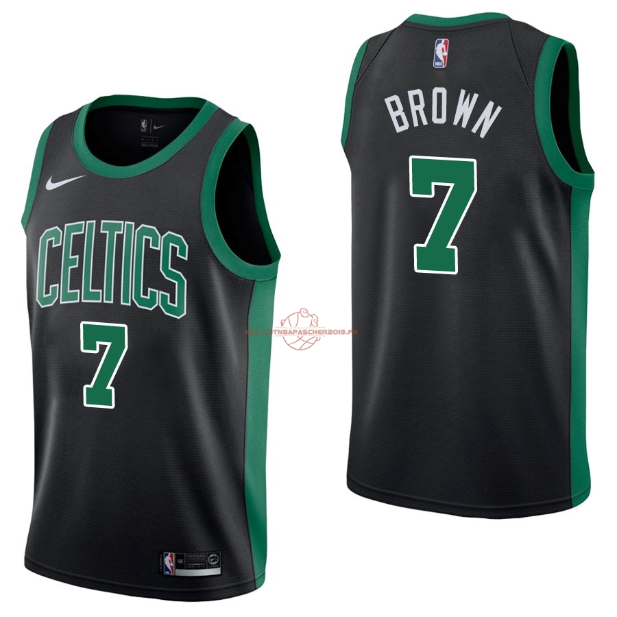 Achat Maillot NBA Nike Boston Celtics NO.7 Jaylen Brown Noir Statement pas cher