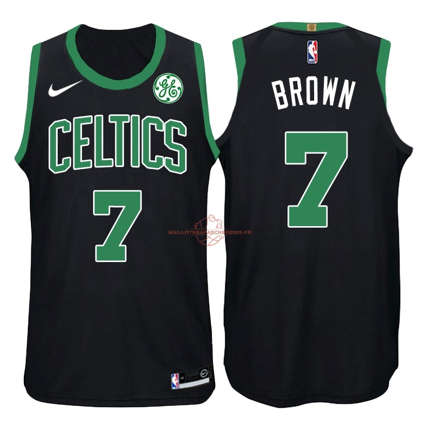 Achat Maillot NBA Nike Boston Celtics NO.7 Jaylen Brown Noir pas cher