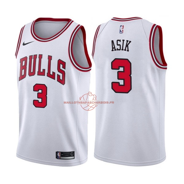 Achat Maillot NBA Nike Chicago Bulls NO.3 Dwyane Wade Blanc Association pas cher