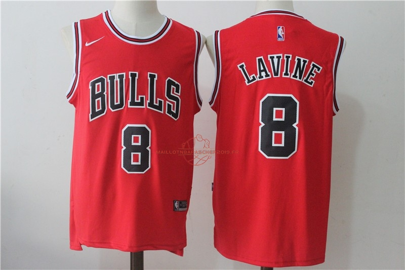 Achat Maillot NBA Nike Chicago Bulls NO.8 Zach Lavine Rouge Icon pas cher