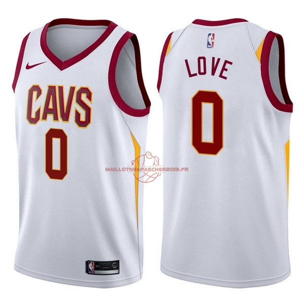 Achat Maillot NBA Nike Cleveland Cavaliers NO.0 Kevin Love Blanc Association pas cher