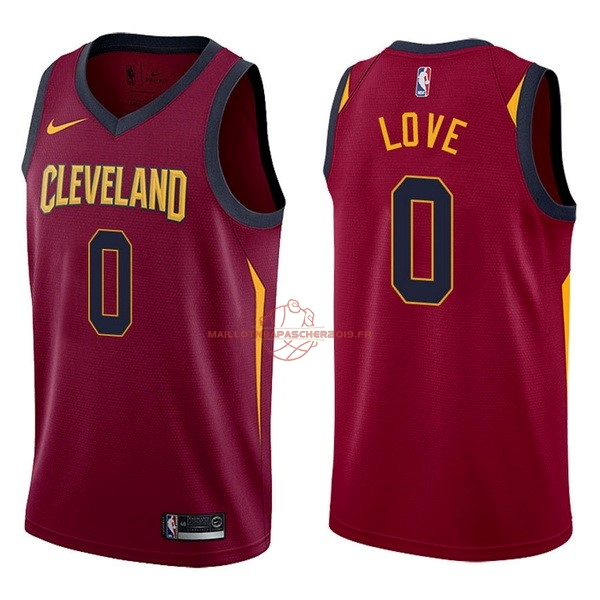Achat Maillot NBA Nike Cleveland Cavaliers NO.0 Kevin Love Rouge Icon pas cher