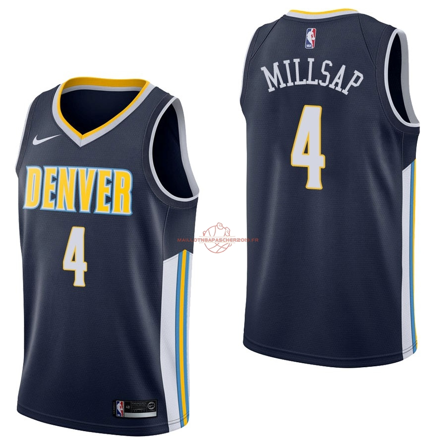 Achat Maillot NBA Nike Denver Nuggets NO.4 Paul Millsap Marine Icon pas cher