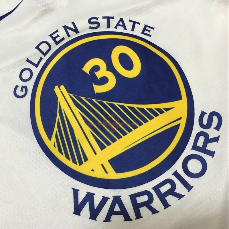 Achat Maillot NBA Nike Golden State Warriors NO.30 Stephen Curry Blanc Association pas cher