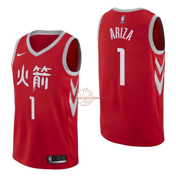 Achat Maillot NBA Nike Houston Rockets NO.1 Trevor Ariza Nike Rouge Ville pas cher
