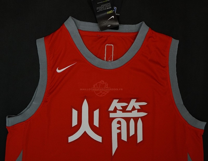 Achat Maillot NBA Nike Houston Rockets NO.13 James Harden Nike Rouge Ville pas cher