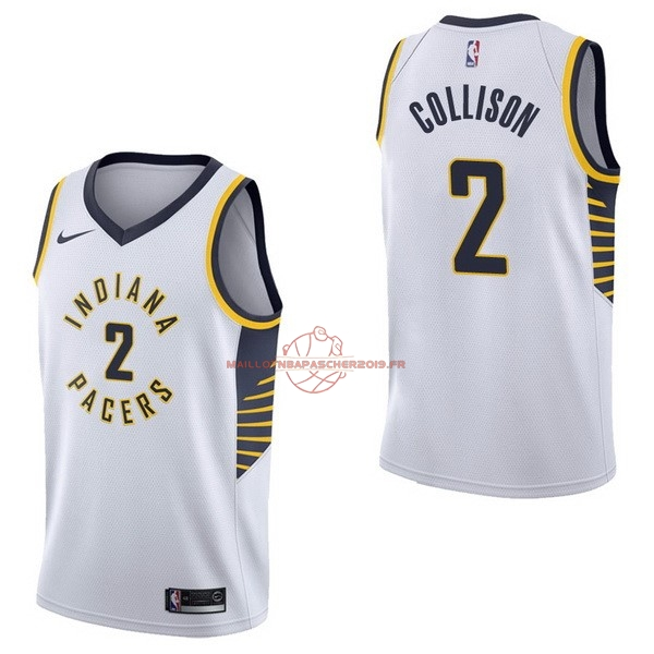 Achat Maillot NBA Nike Indiana Pacers NO.2 Darren Collison Blanc Association pas cher