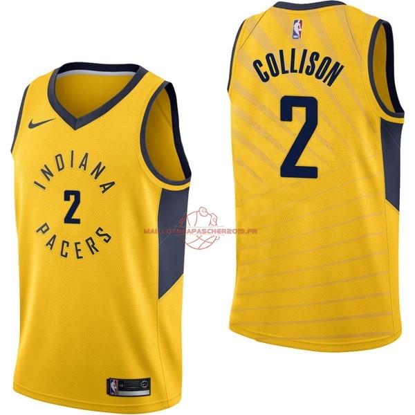 Achat Maillot NBA Nike Indiana Pacers NO.2 Darren Collison Jaune Statement pas cher