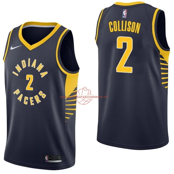 Achat Maillot NBA Nike Indiana Pacers NO.2 Darren Collison Marine Icon pas cher