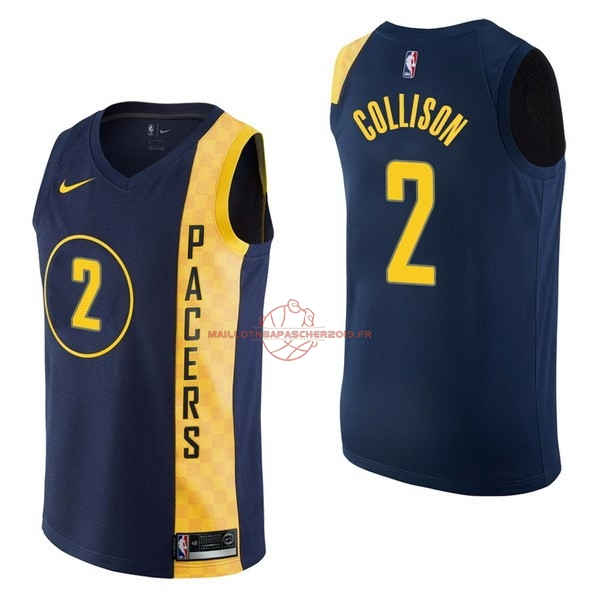 Achat Maillot NBA Nike Indiana Pacers NO.2 Darren Collison Nike Marine Ville pas cher