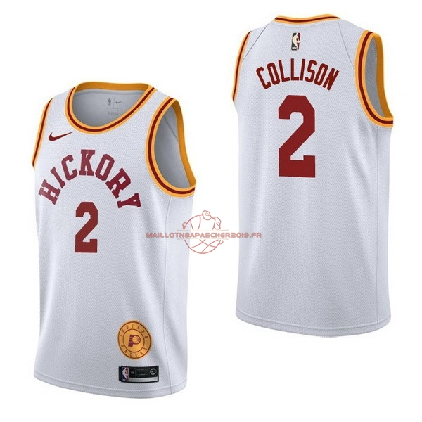 Achat Maillot NBA Nike Indiana Pacers NO.2 Darren Collison Retro Blanc pas cher