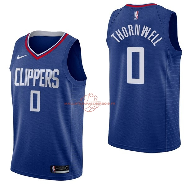 Achat Maillot NBA Nike Los Angeles Clippers NO.0 Sindarius Thornwell Bleu Icon pas cher