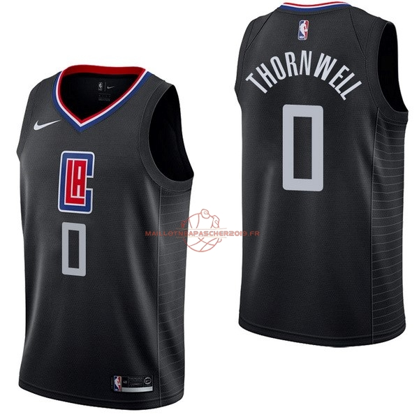 Achat Maillot NBA Nike Los Angeles Clippers NO.0 Sindarius Thornwell Noir Statement pas cher