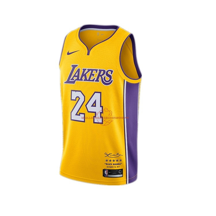 Achat Maillot NBA Nike Los Angeles Lakers NO.24 Kobe Bryant Jaune pas cher