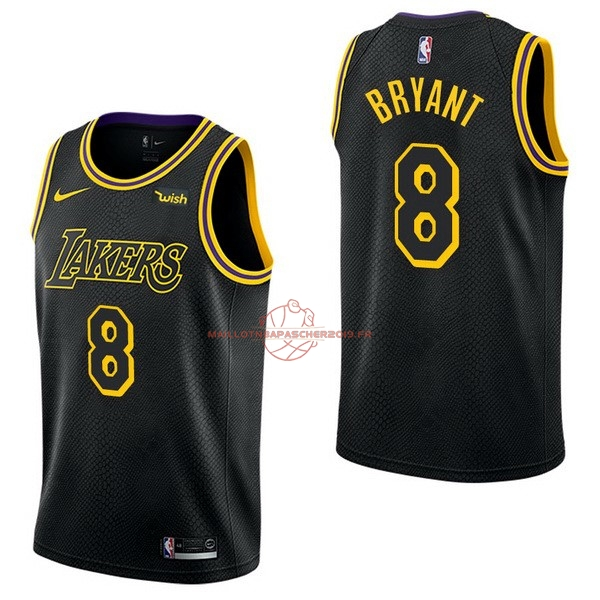 Achat Maillot NBA Nike Los Angeles Lakers NO.8 Kobe Bryant Noir pas cher