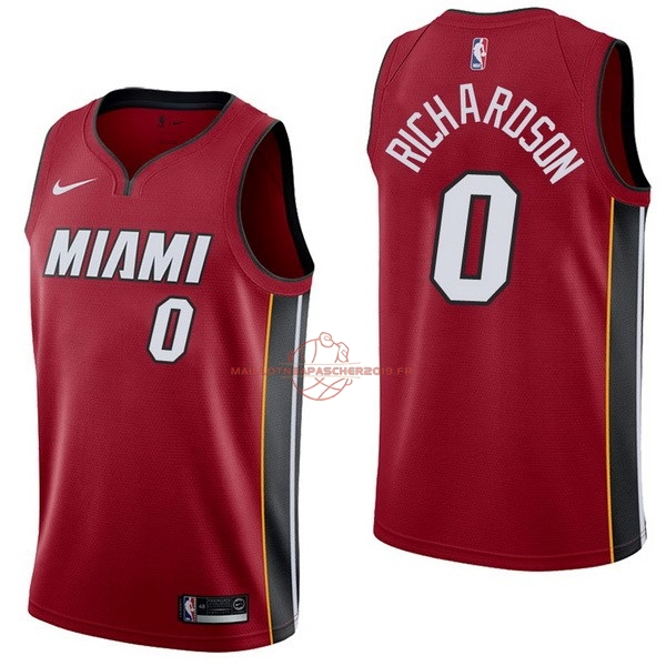 Achat Maillot NBA Nike Miami Heat NO.0 Josh Richardson Rouge Statement pas cher