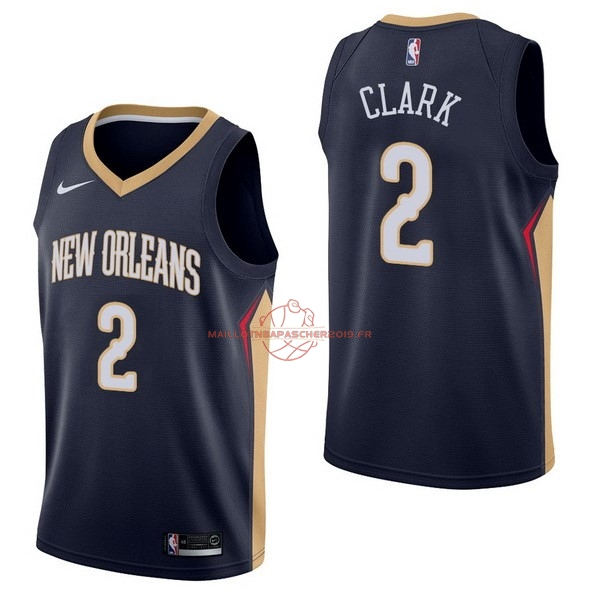 Achat Maillot NBA Nike New Orleans Pelicans NO.2 Ian Clark Marine Icon pas cher
