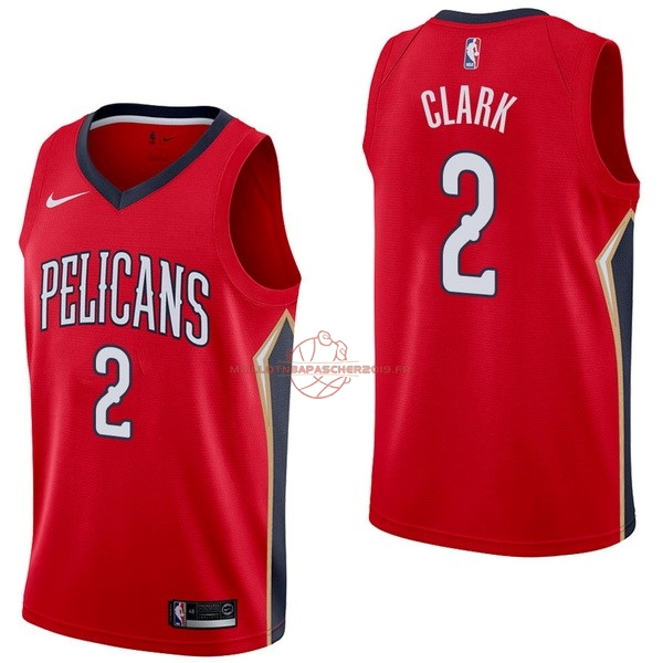 Achat Maillot NBA Nike New Orleans Pelicans NO.2 Ian Clark Rouge Statement pas cher